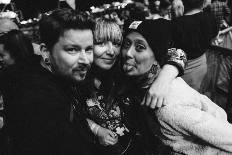 Nico, ich und Edyta / Highfield Festival / Foto: Nico Ackermeier